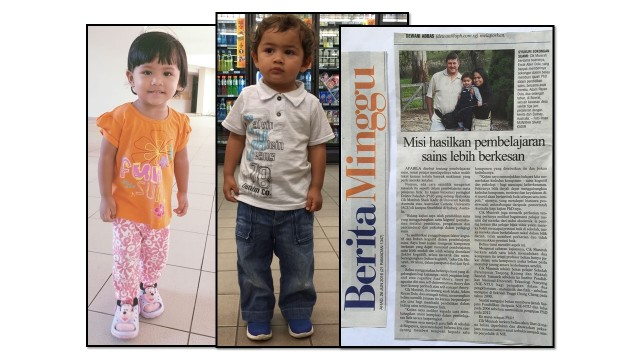 3)Two-year old Nur Iffah Imran and 2-yrs 8-mth old Adam Rayan Dula. (Both photos taken in May 2016) Adam is staying in Sydney with his American father, Allen Dula, and mother who is pursuing a PhD (in Physics education) under a scholarship.